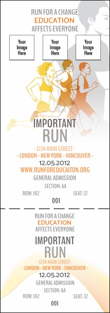 Run for a Cause Orange Reserved Event Ticket