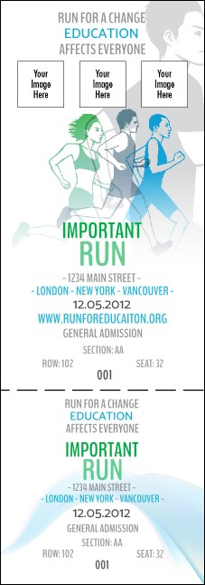 Run for a Cause Blue & Green Reserved Event Ticket