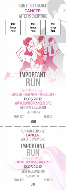 Run for a Cause Pink Reserved Event Ticket