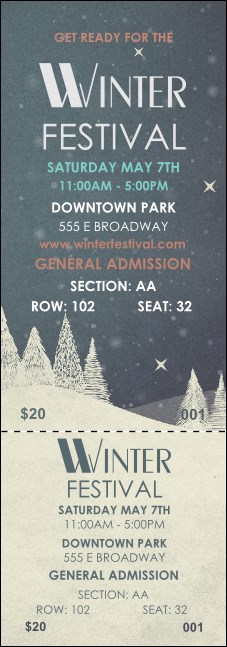 Winter Reserved Event Ticket Product Front