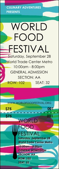 World Food Festival Reserved Event Ticket
