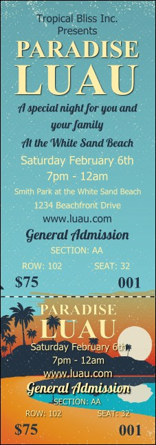 Beach Reserved Event Ticket