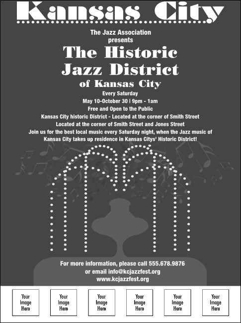 Kansas City Fountains Flyer (Black and White)
