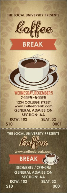 Coffee Reserved Event Ticket