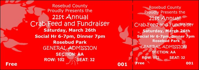 Crab Feed Reserved Event Ticket