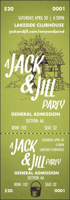 Jack and Jill Reserved Event Ticket Product Front