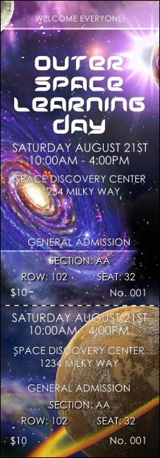 Outer Space Reserved Event Ticket