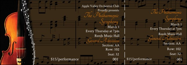 Symphony Reserved Event Ticket