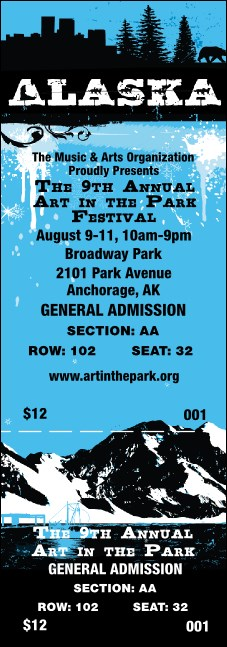 Alaska Reserved Event Ticket