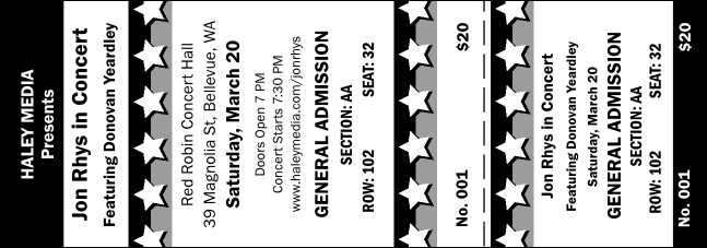 All Purpose Stars Reserved Event Ticket