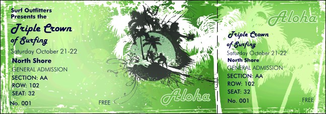 Aloha Reserved Event Ticket