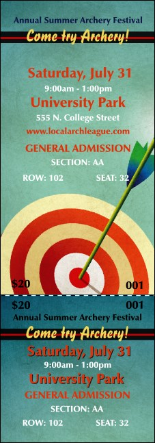 Archery Reserved Event Ticket