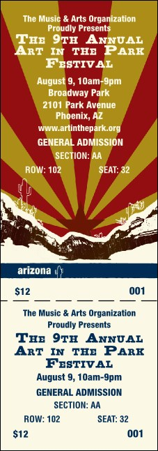 Arizona Reserved Event Ticket