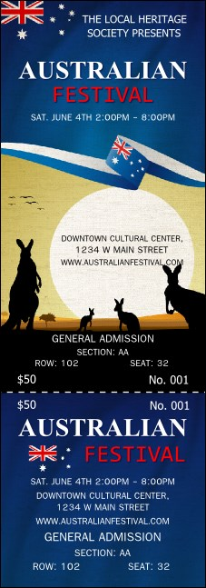 Australia Reserved Event Ticket