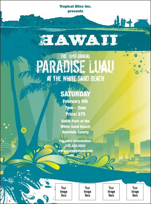 hawaii luau flyer