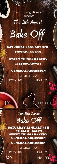 Baking Reserved Event Ticket