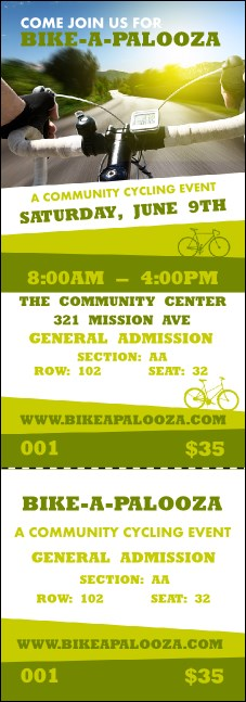 Bike A Palooza Reserved Event Ticket