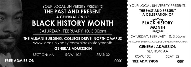 Black History Month Reserved Event Ticket Product Front
