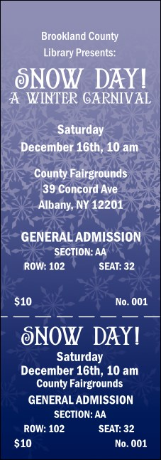 Blizzard Reserved Event Ticket