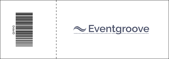 Blue Two-Tone Reserved Event Ticket Product Back