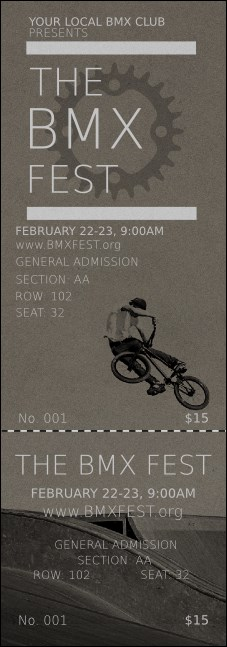 BMX Reserved Event Ticket