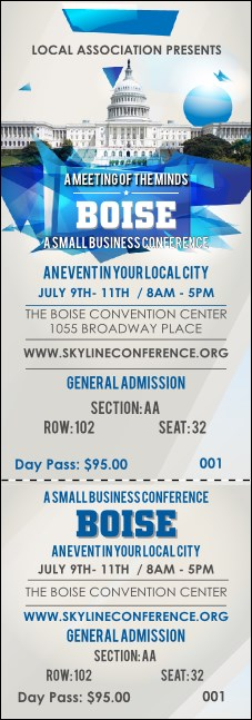 Boise Reserved Event Ticket