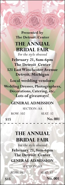 Bridal Fair Reserved Event Ticket