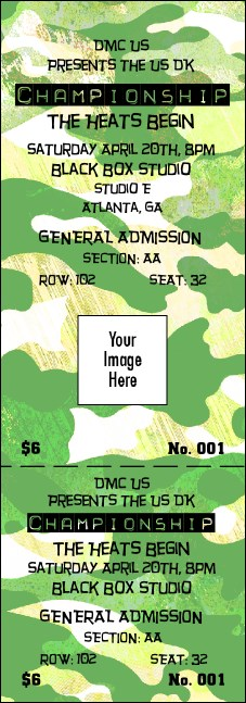 Camouflage Reserved Event Ticket