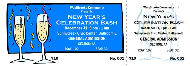 Celebration 001 Reserved Event Ticket Product Front