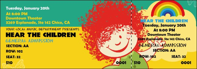 Children's Music Reserved Event Ticket