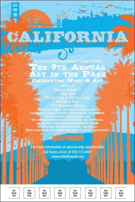 California Poster (Orange and Blue)