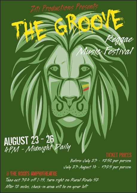 Reggae Lion Club Flyer Product Front