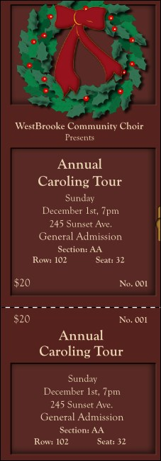 Christmas 001 Reserved Event Ticket Product Front