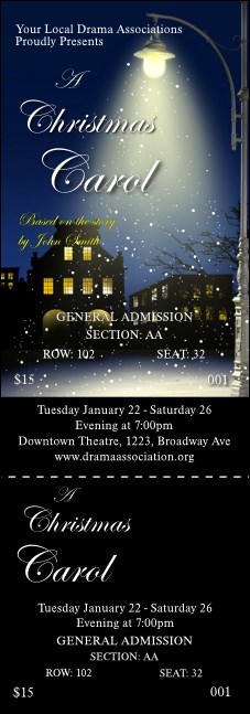 Christmas Carol Reserved Event Ticket