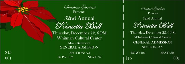 Christmas Poinsettia 001 Reserved Event Ticket