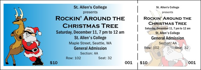 Cool Christmas 002 Reserved Event Ticket