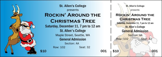 Cool Christmas 003 Reserved Event Ticket Product Front
