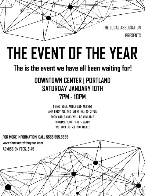 All Purpose Geometric Black and White Flyer