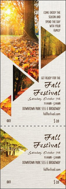 Fall Geometric Event Ticket