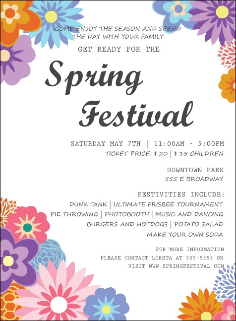 Spring Festival 3 Invitation Product Front