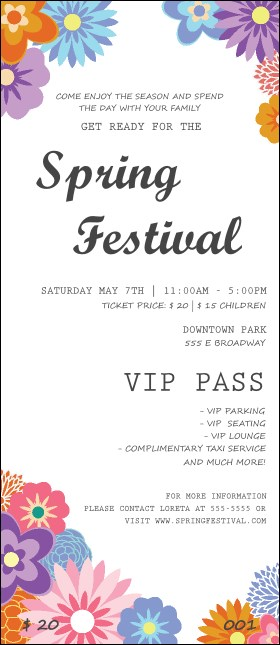 Spring Festival 3 VIP Pass Product Front