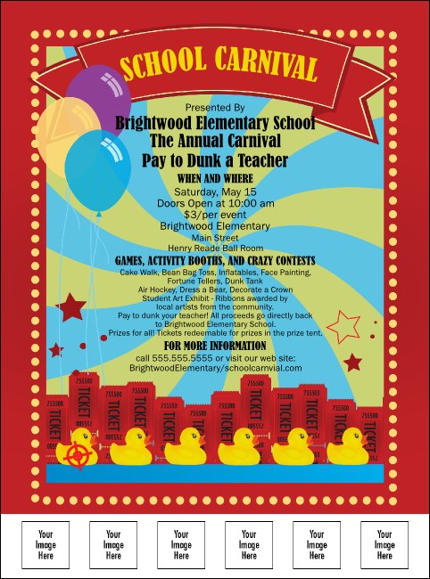 School Carnival Flyer Product Front