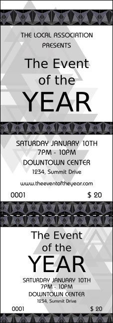 All Purpose Triangles 2 Black and White Event Ticket