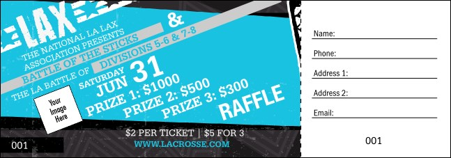 LAX Stick Raffle Ticket