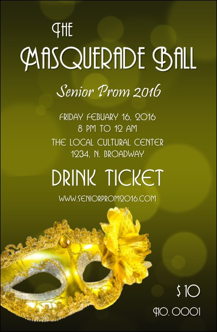 Masquerade Ball 2 Drink Ticket