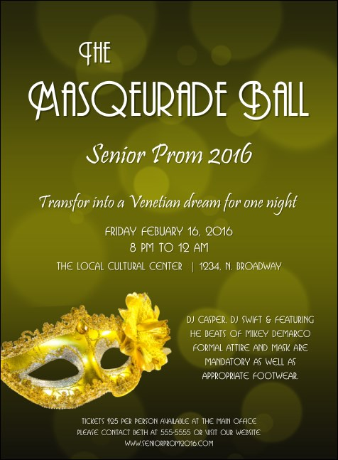 Masquerade Ball 2 Invitation