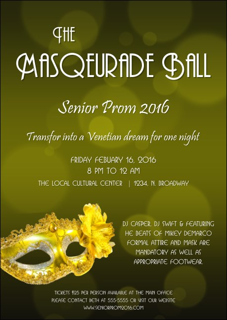 Masquerade Ball 2 Postcard
