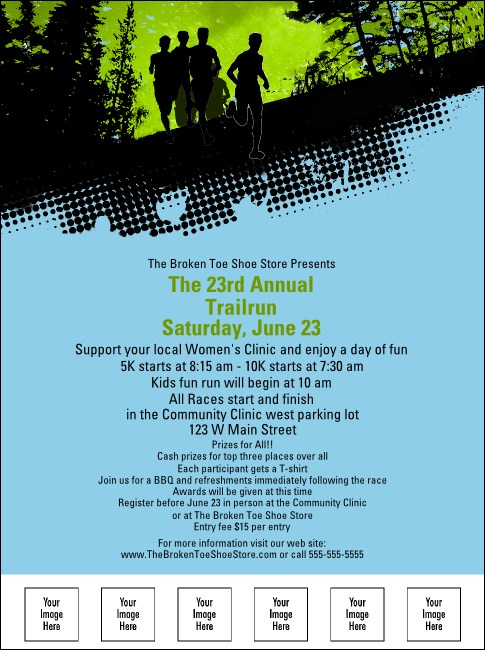 Trail Running Race Flyer