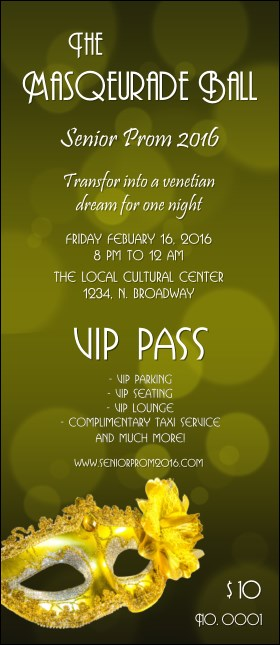 Masquerade Ball 2 VIP Pass