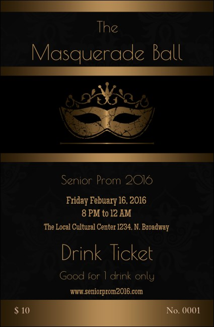 Masquerade Ball 3 Drink Ticket